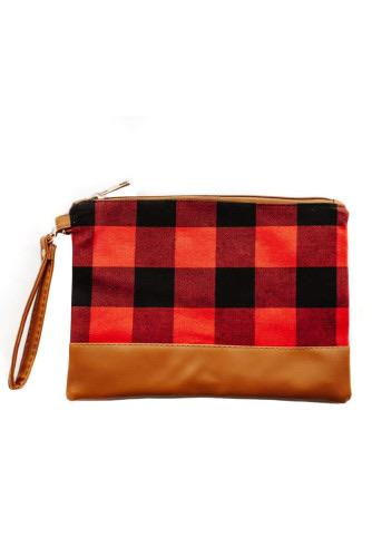 1149 Miss Sparkling Buffalo Plaid Hand Clutch Bag
