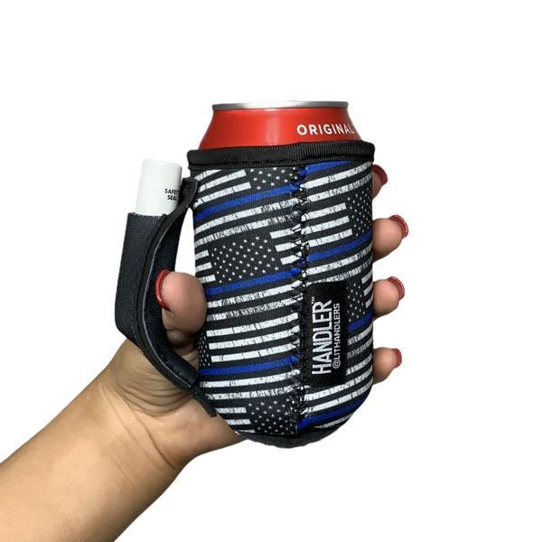 AP63 BACK THE BLUE 12OZ STUBBY CAN HANDLER