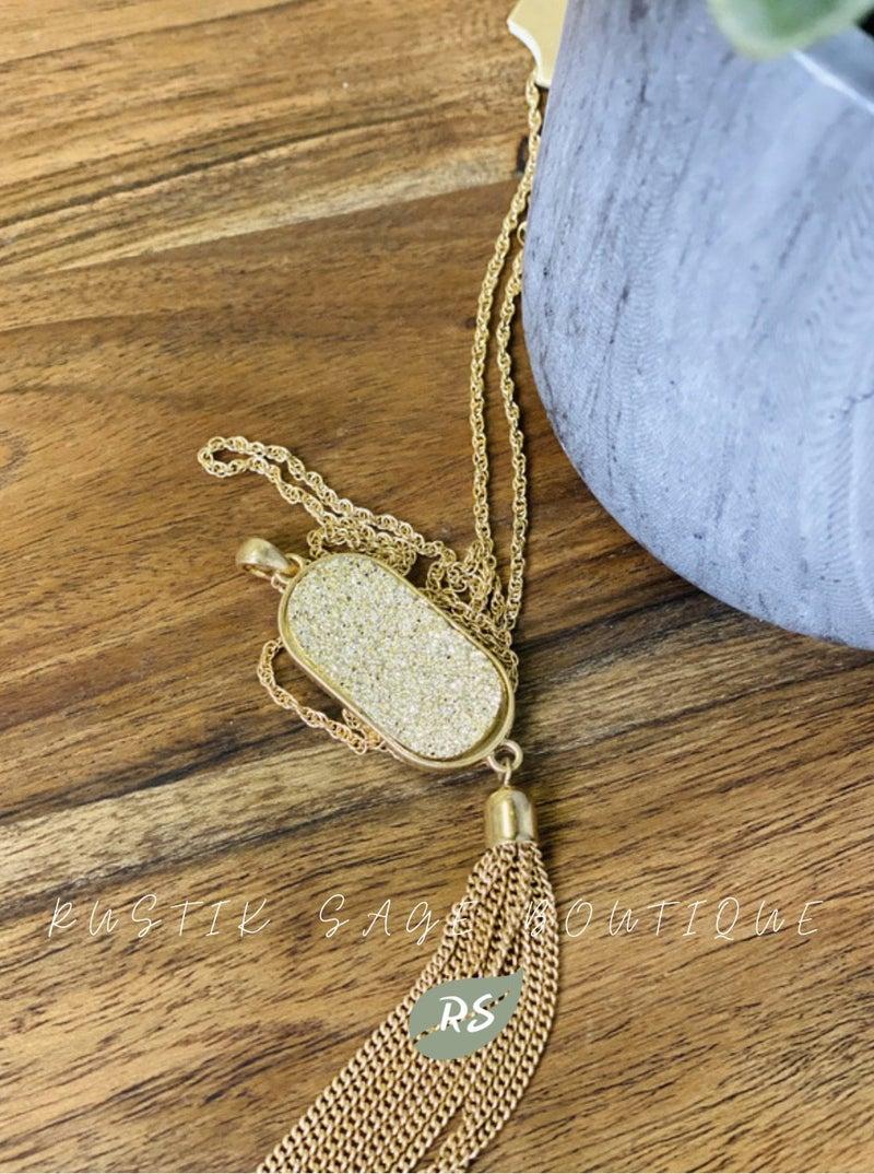 M84 Gold N' Shimmer Necklace