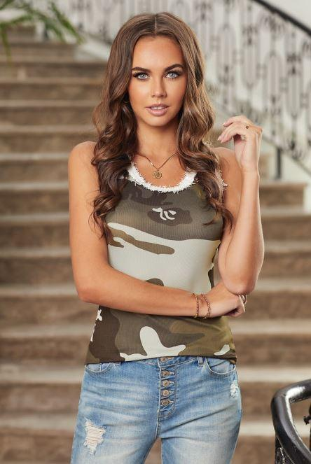 F29 15 Stitches Try Me Camo Tank Top