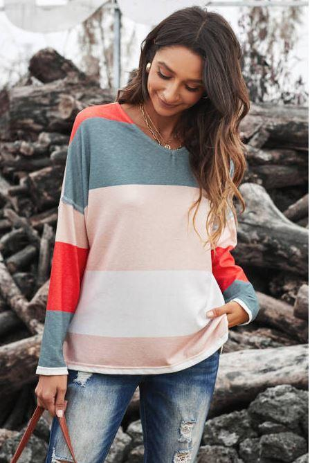 F39 15 Stitches The Brook Color Block Top
