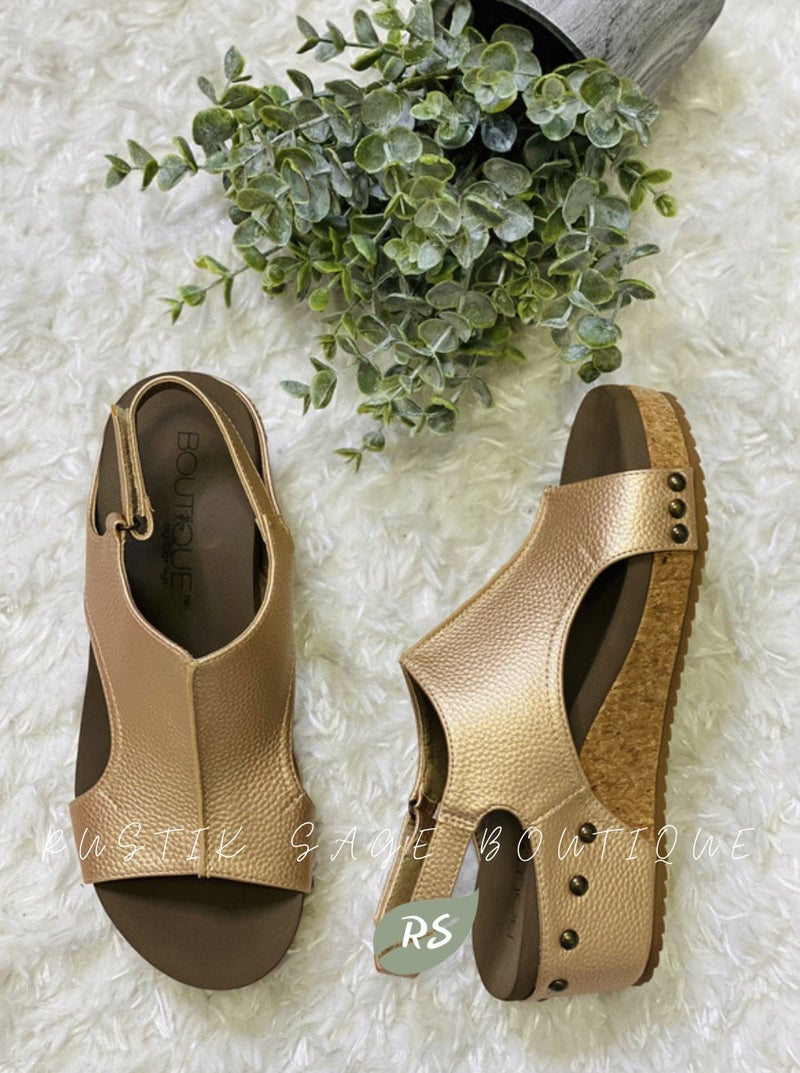 M107 Corkys Volta Living on the Wedge Sandal