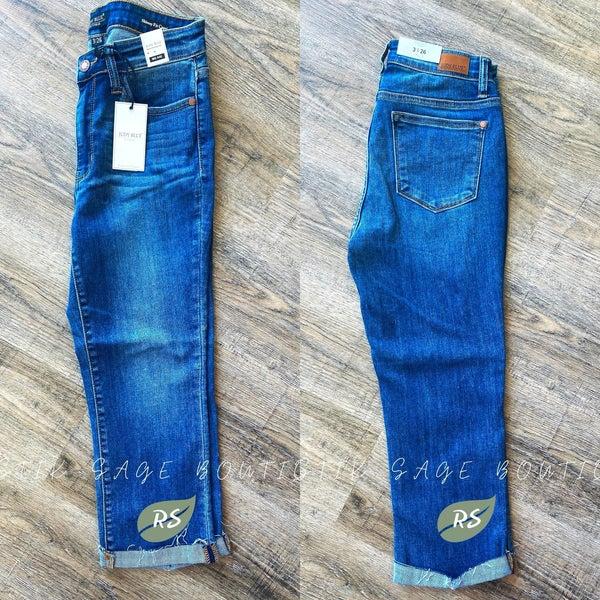 M53 Judy Blue Cuffed Capri Jeans