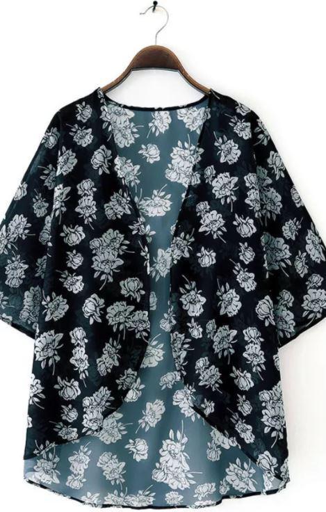 M48 Cassidy Chiffon Blouse Kimono