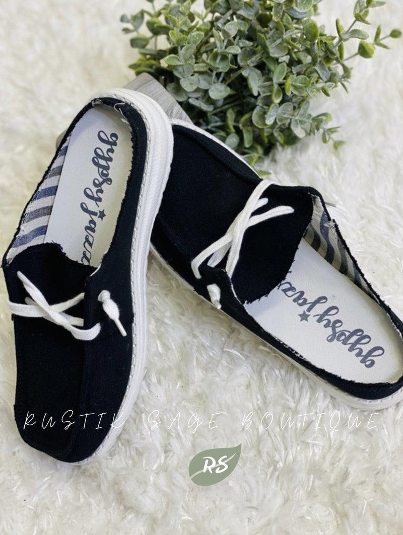 AP45 Gypsy Jazz Black Layla Slip on Sneaker
