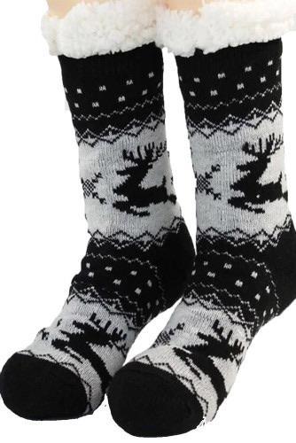 1143 Miss Sparkling Black Christmas Socks