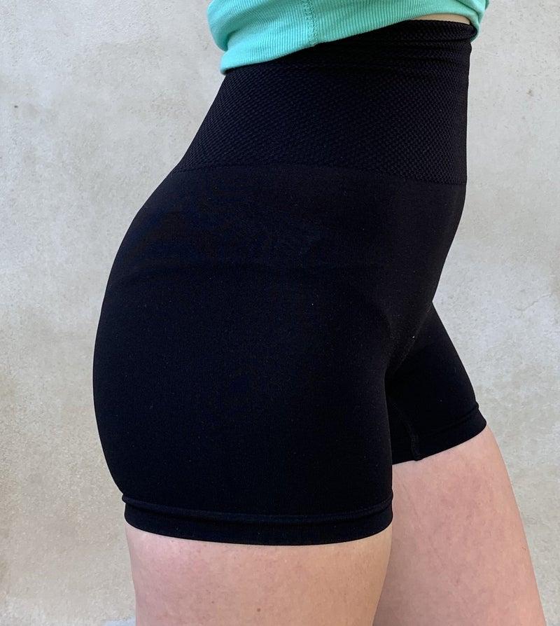 1135 Zenana Black Tummy Control Shape Wear Legging Shorts