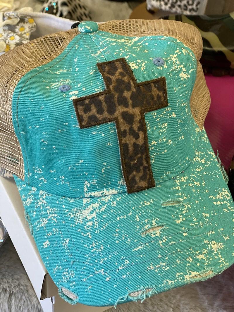 AP48 Turquoise Cross Hat