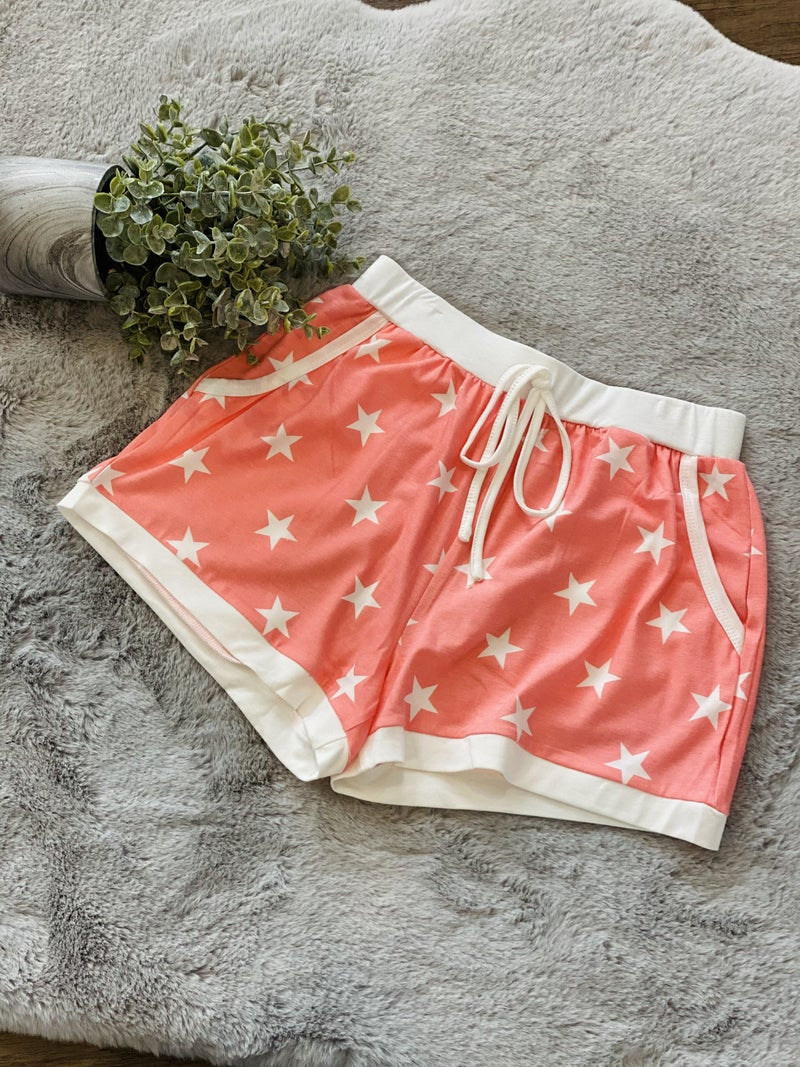 Star Print Lounge Shorts