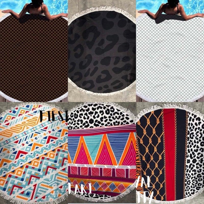 AP57 Boujie Beach Towels