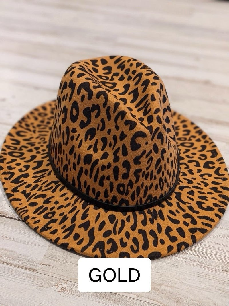 M15 Belted Leopard Fedora Hat