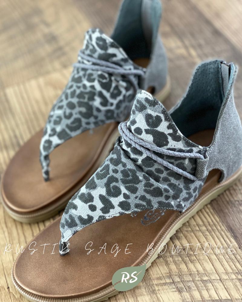 "F04 Very G Grey Leopard ""Angelika"" Sandals"