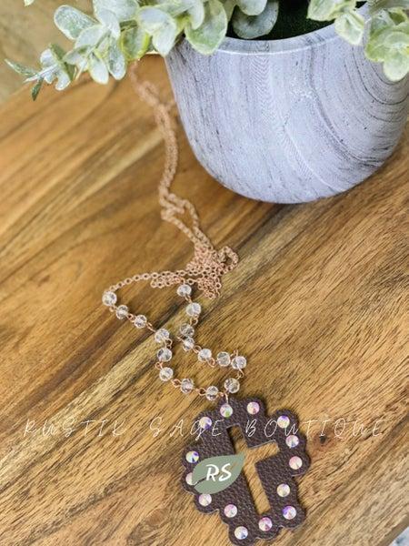 M83 Copper Cross Necklace