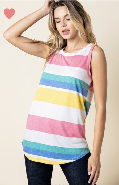 Lovely Multicolor Tank Top