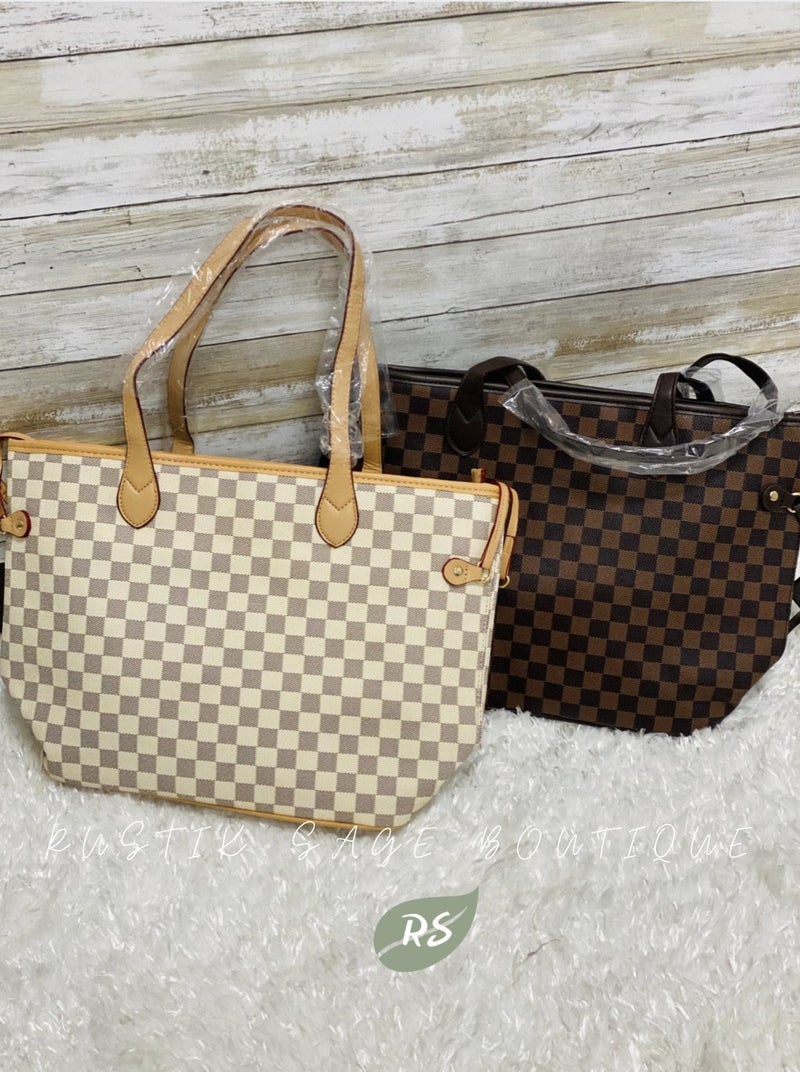 AP59 Checkered Tote Handbag (2 colors)