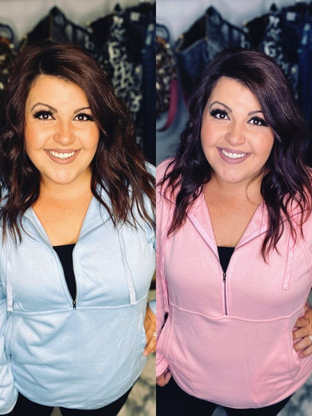 1027 Miss Sparkling Half Zip Pullover Sweatshirt