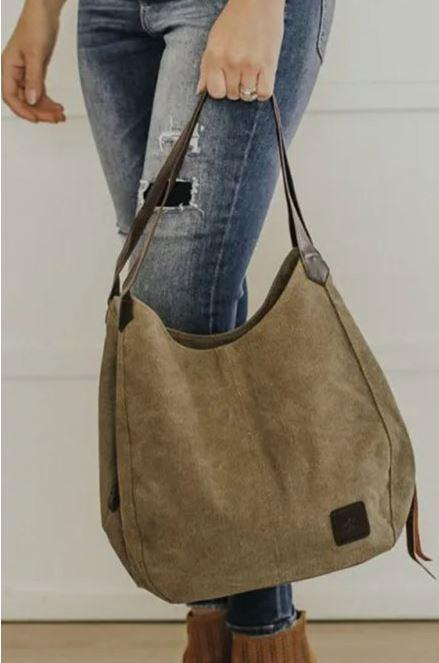 F36 15 Stitches Harlee Canvas Tote Bag (2 colors)