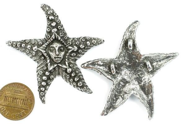 Green Girl Studios Starfish Fairy, Pewter, 49x51mm