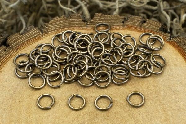 TierraCast Round Jump Ring, 20 Gauge, Oxidized Brass, 4mm Inside