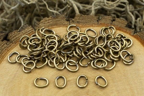 TierraCast Oval Jump Ring, 20 Gauge, Oxidized Brass, 4x3mm Inside