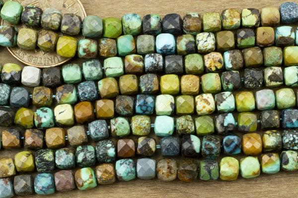 Hubei Turquoise Cube, 4-4.5mm