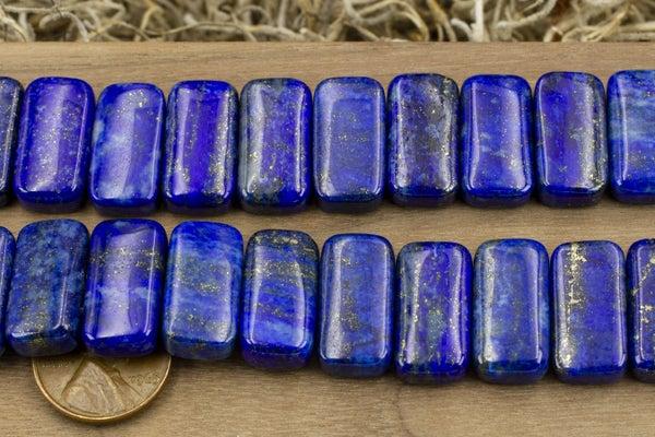 Dakota Stones Double-Drilled Lapis Rectangle, 10x20mm