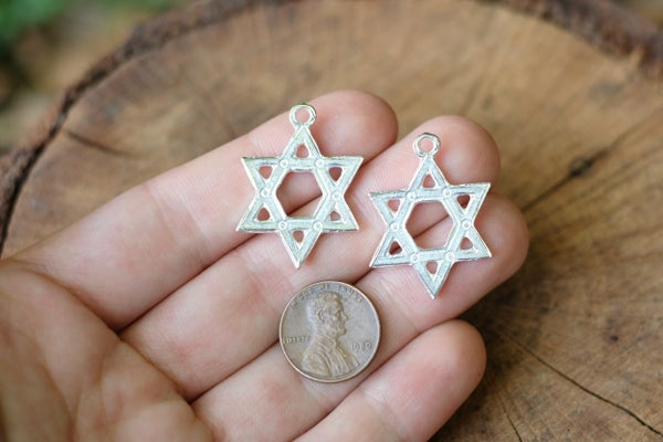 Made in Greece, Star of David Pendant, 30x23mm