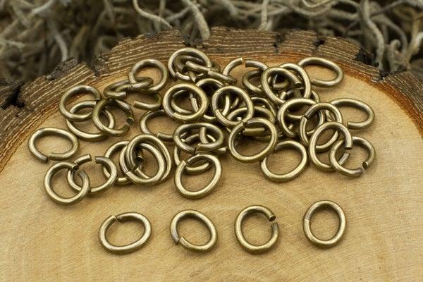 TierraCast Oval Jump Ring 17 Gauge, Oxidized Brass, 5x3.5mm Inside