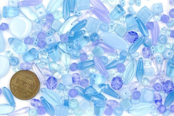 Premium Czech Glass Bead Mix, Blue Oasis