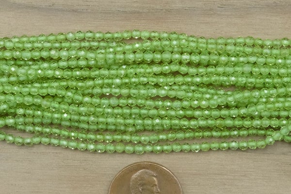 Peridot Faceted Round, 2.3mm