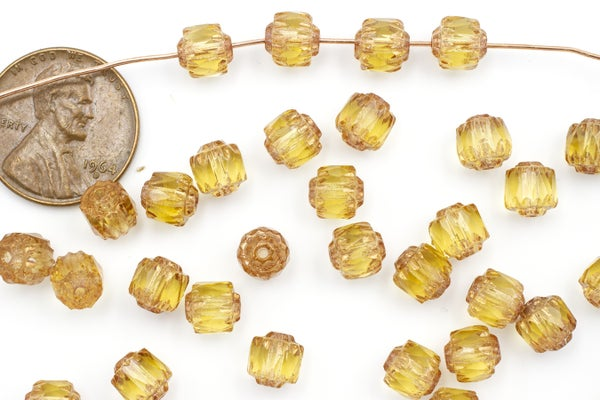 Czech Glass Cathedral, Bronze Honey, 6mm