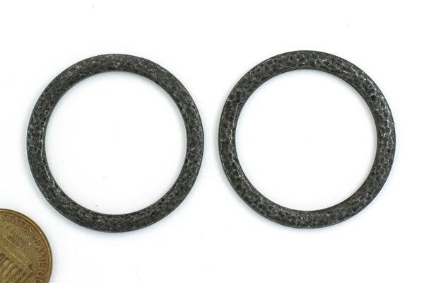 TierraCast Hammertone 1.25 inch Ring, Black Plate, 32mm