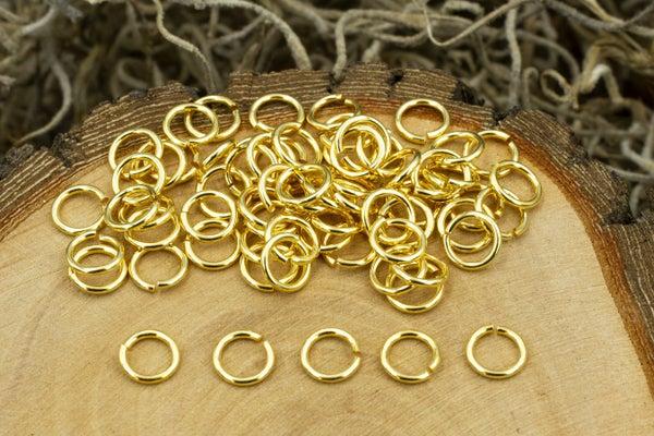 TierraCast Round Jump Ring 20 Gauge, Gold Plate, 4mm Inside