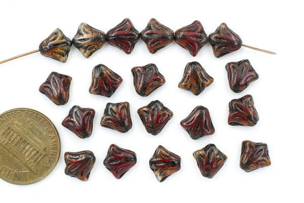 Czech Glass Lily, Berry Mix, 8.5mm