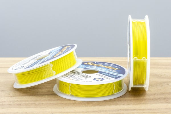 "Softflex Beading Wire, Medium (.019""), Yellow Lemon Quartz"