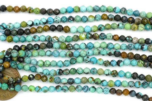 Dakota Stones Turquoise Faceted Round, 3.6mm