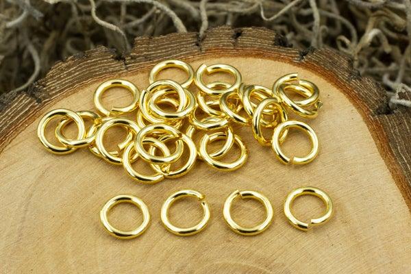 TierraCast Round Jump Ring, 16 Gauge, Gold Plate, 5mm Inside