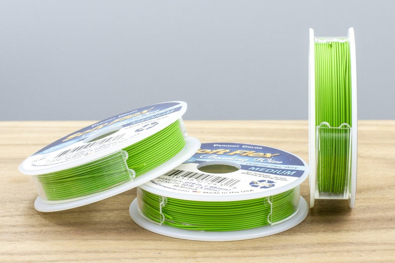 "Softflex Beading Wire, Medium (.019""), Green Peridot"