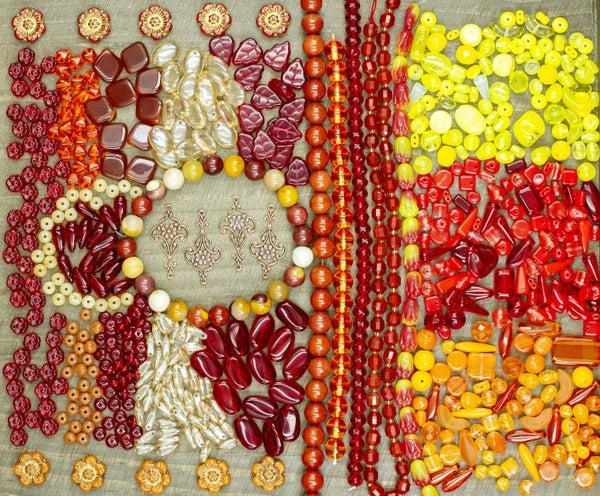 Sam's Bead Box May 2021: Sunburst, 23 Items