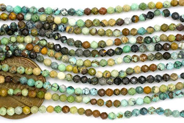 Dakota Stones Turquoise Faceted Round, 2.4mm