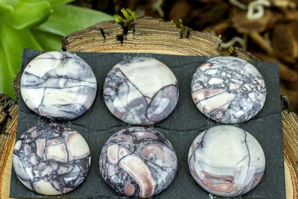Dakota Stones Porcelain Jasper Coin Cabochon, 20mm