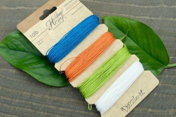 Natural Hemp Cord, .5mm, 10lb, Brights Mix