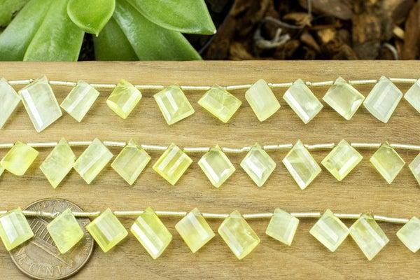 Indian-Cut Lemon Prehnite Fancy Brio, 6-12mm
