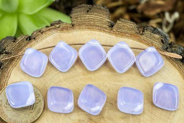 Czech Glass Diamond Brio, Lilac Opal, 12x13mm