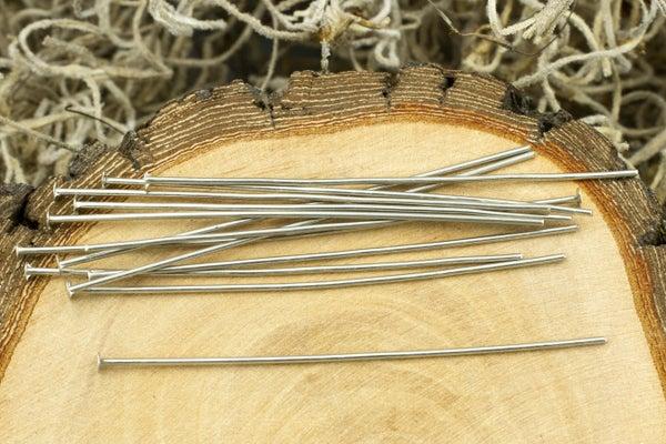 TierraCast Head Pin 21 gauge, Nickel, 2in