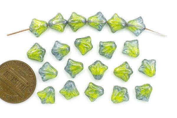 Czech Glass Lily, Key Lime Pie, 8.5mm