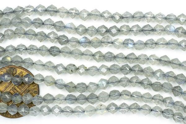 Labradorite Micro-Faceted Starcut, 4mm