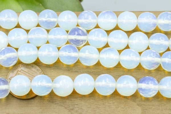 Opalite (glass) Faceted Round, 10mm