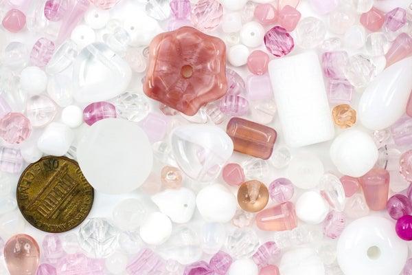 Premium Czech Glass Bead Mix, Cotton Candy, 2-24mm