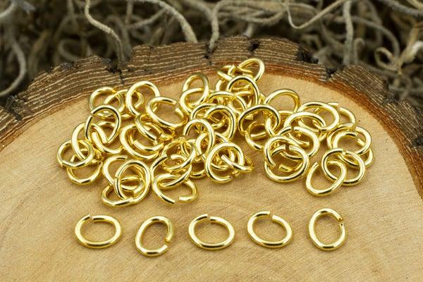 TierraCast Oval Jump Ring, 20 Gauge, Gold Plate, 4x3mm Inside